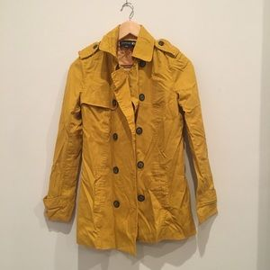 Forever 21 sunny yellow trench